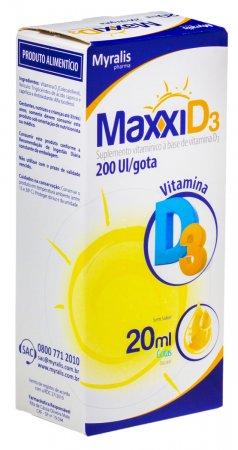 Suplemento Vitamínico Maxxi D3 Gotas com 20ml