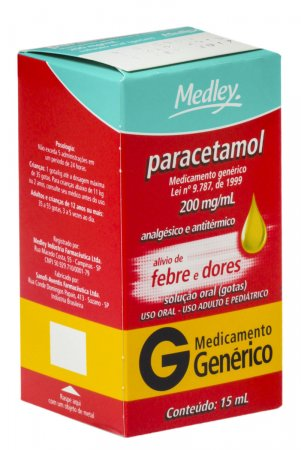 Paracetamol 200mg/ml Medley Gotas com 15ml