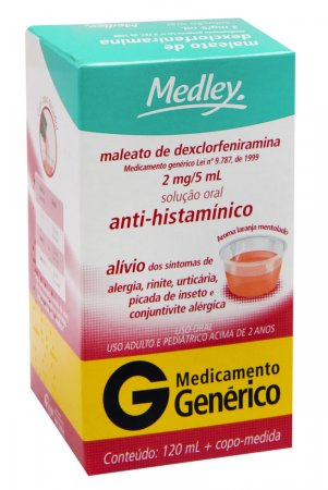 Maleato de Dexclorfeniramina 2mg/5ml