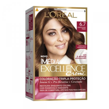 Coloração Imédia Excellence Creme N°6.7 Chocolate Puro