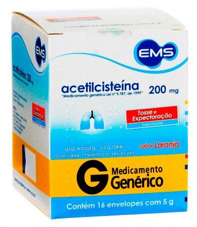 Acetilcisteína 200mg