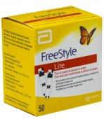 Tiras de Teste para Glicose Freestyle Lite com 50 unidades