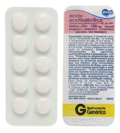 Ácido Acetilsalicílico 100mg