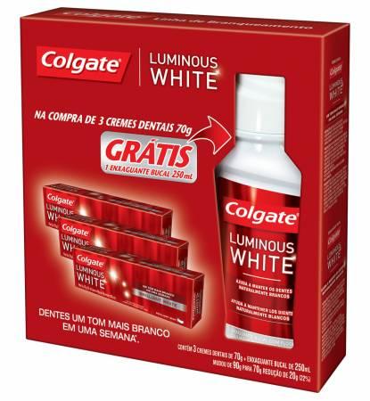 Kit Creme Dental Colgate Luminous White
