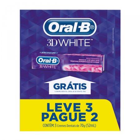 Kit Creme Dental Oral-B 3D White