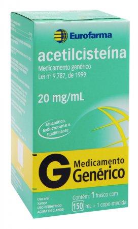 Acetilcisteína 20mg