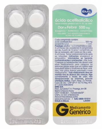 Ácido Acetilsalicílico 500 mg