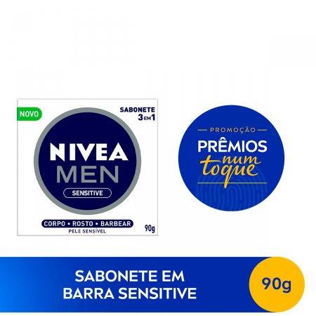 Sabonete em Barra Nivea Men 3 em 1 Sensitive