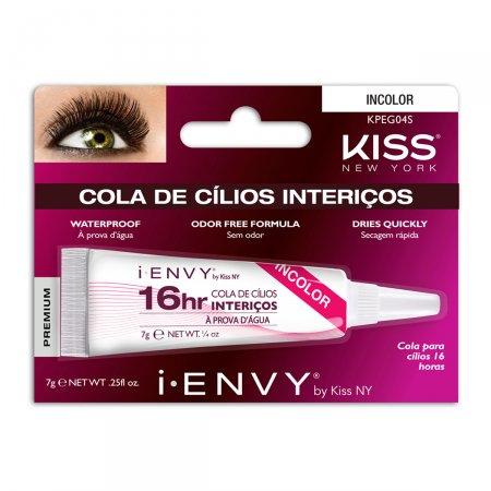 Cola para Cílios Postiços I-ENVY by Kiss NY 16h Incolor com 1 unidade