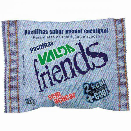 Valda Pastilha Friends Sem Açucar