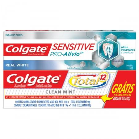 Colgate Colgate Total 12 Sensitive Pro Alivio Real White 110g Gratis