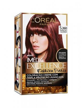 Coloração Imédia Excellence Fashion Paris Nº 5260 Vermelho Glamour