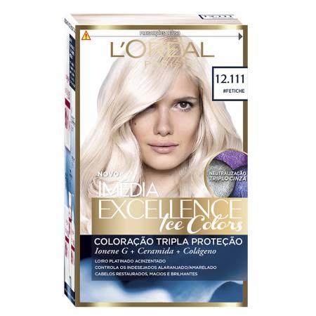 Coloração Permanente Imédia Excellence Ice Colors N°12.111 Fetiche
