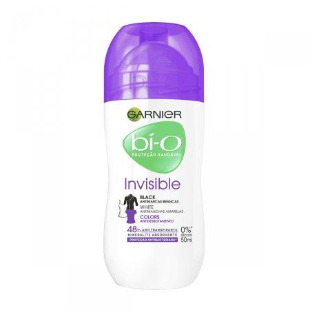 Desodorante Roll-on Feminino Bí-O Invisible Black White Colors