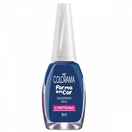 Esmalte Colorama Forma em Cor Quadrado Azul