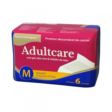 Protetor de Colchão Adultcare Descartável M com 6 unidades