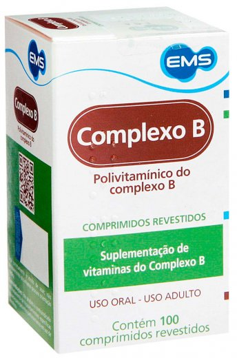 ce4337b36 Vitamina Complexo B 100 Comprimidos Complexo B