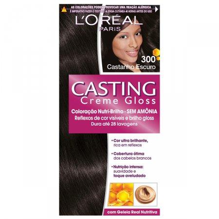 Coloração Permanente Casting Creme Gloss N° 300 Castanho Escuro