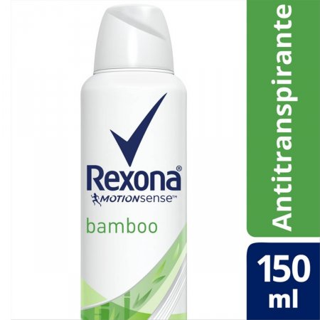 Desodorante Aerosol Antitranspirante Rexona Bamboo e Aloe Vera Feminino com 150ml