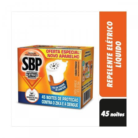 Repelente Elétrico Líquido SBP + Refil 45 Noites