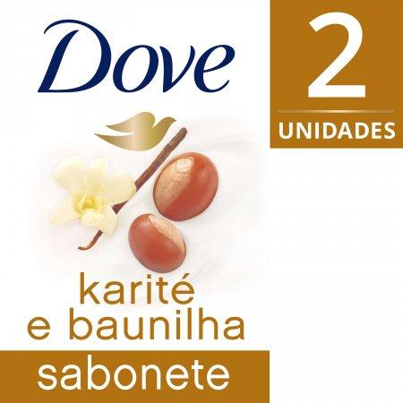 Kit Sabonete Dove Karité e Baunilha