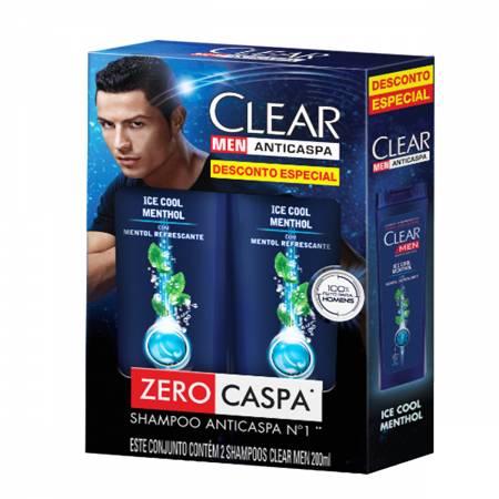 Kit Shampoo Anticaspa Clear Men Ice Cool Menthol