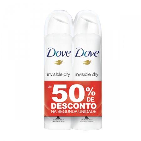 Kit Desodorantes Aerosol Dove Invisible Dry