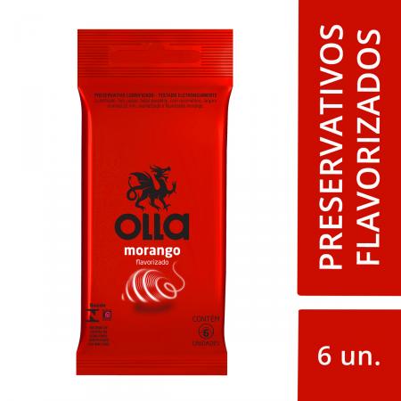 Preservativo Olla Morango