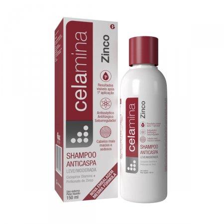 Tratamento capilar | Celamina Zinco Shampoo Anticaspa 150ml | Drogaraia.com