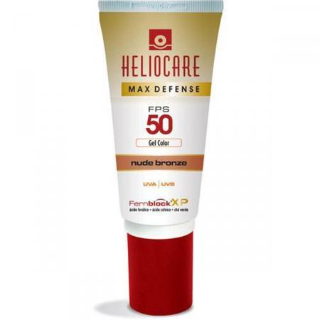 Protetor Solar Heliocare Max Defense FPS50 Cor Nude Bronze