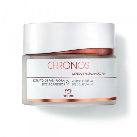 Creme Antissinais Chronos 70+ Defesa e Restauração FPS30