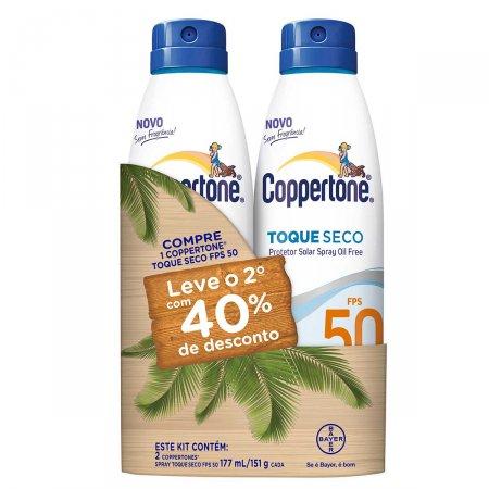 Kit Protetor Solar Spray Coppertone Toque Seco FPS50