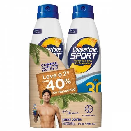Kit Protetor Solar Spray Coppertone Sport FPS30