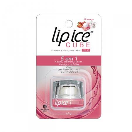 Protetor e Hidratante Labial Lip Ice Cube Morango FPS15