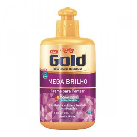 Creme para Pentear Niely Gold Mega Brilho