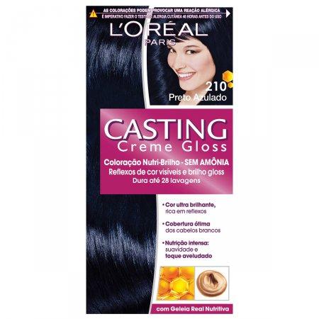 Coloração Permanente Casting Creme Gloss N° 210 Preto Azulado