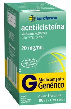 Acetilcisteína 20 mg