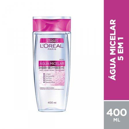 Água Micelar Facial L'Oréal 5 em 1 Oil Free com 400ml