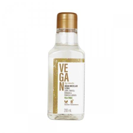 Água Micelar Vegan By Needs 5 em 1 Tea Tree Sem Fragrância