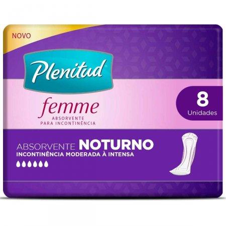 Absorvente Noturno para Incontinência Urinária Plenitud Femme com 8 Unidades