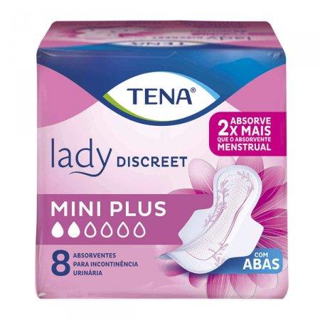 Absorvente Tena Lady Discreet Mini Plus com Abas