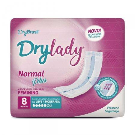 Absorvente Urinário Feminino Drylady Normal Plus 8 Unidades