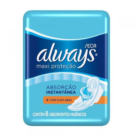 Absorvente Always Maxi Proteção Seca com Abas