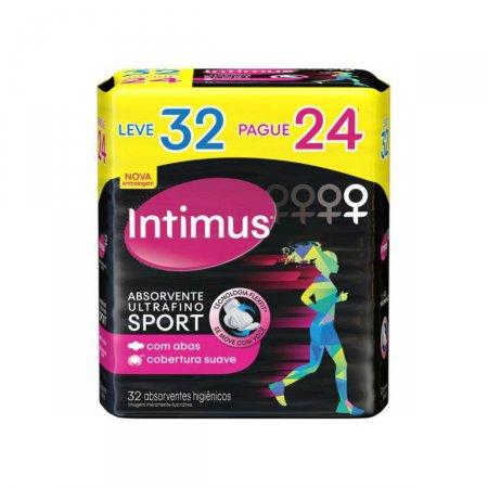 Absorvente Externo Intimus Sport Suave com Abas Ultrafino