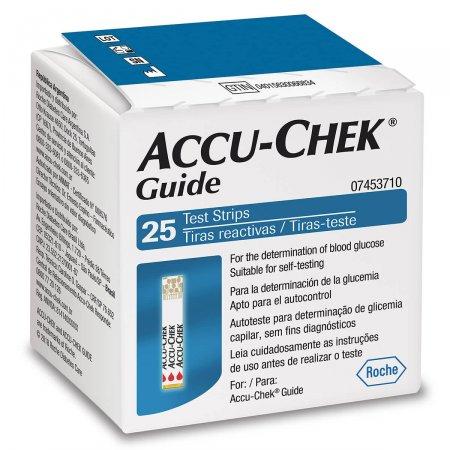Tiras Accu Chek Guide Para Controle de Glicemia