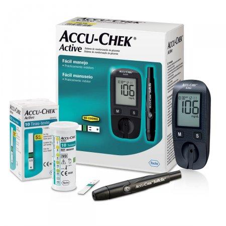 Kit Tiras Accu-Chek Active para Controle de Glicose