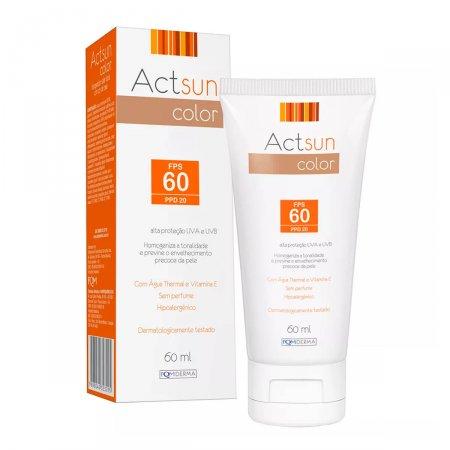 Protetor Solar Facial Actsun Color FPS 60 com 60ml