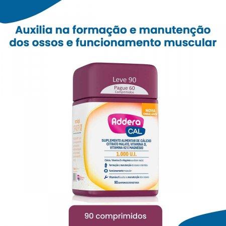 Suplemento Vitamínico Addera Cal 1.000UI com 90 Comprimidos | Foto 2