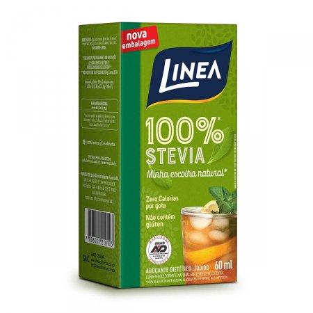Adoçante Líquido Linea 100% Stevia com 60ml