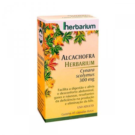 Alcachofra 300mg Herbarium com 45 Cápsulas